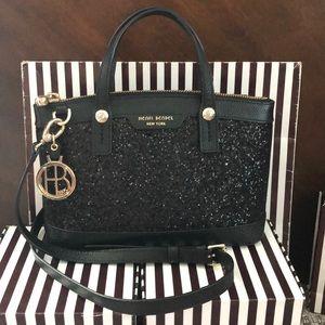 Wow! Henri Bendel Black Glitter Sparkle Mini Purse